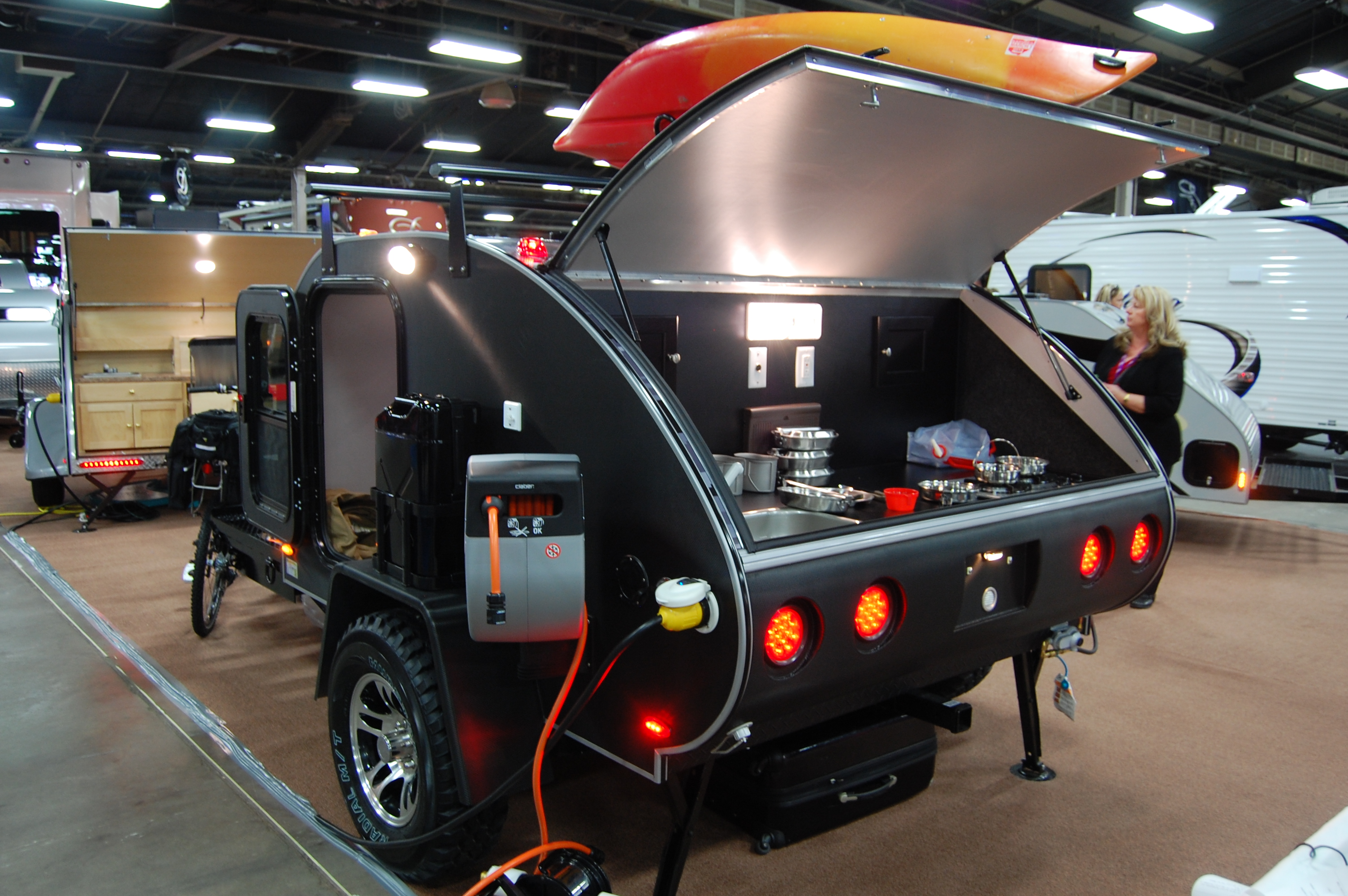 Camper Trailer Kitchen Designs 105 Best Images About Teardrop Trailers And More One Day One