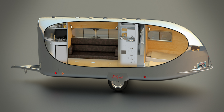 A look at the bowlus road chief the small trailer enthusiast for Garden shed 3x5
